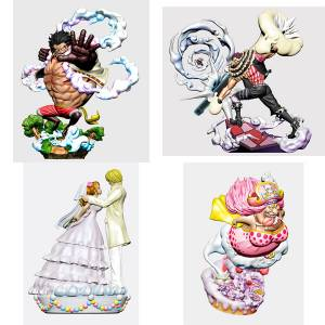 LOGBOX REBIRTH ONE PIECE Whole Cake Island Arc 4 Pack BOX [MegaHouse]