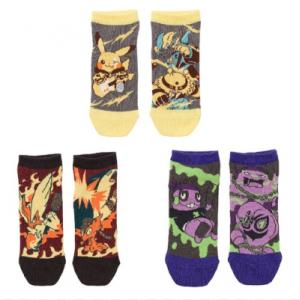 Pokemon - Short socks Band festival 3 pairs set (V1) [CLOTHES - POKEMON CENTER]