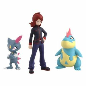Pokemon Scale World Johto Region Silver & Croconaw & Sneasel Limited Set [Bandai]