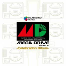 Mega Drive Mini -Celebration Album- SOUND SHOCK! T-Shirt Edition M size Limited Set [Goods]