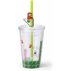 Super Mario Home & Party Straw Tumbler (Underwater Course) [Goods]