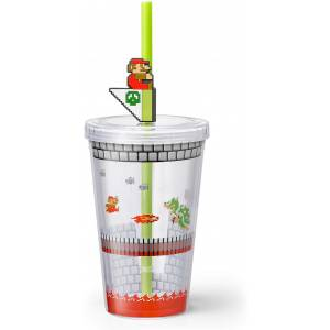 Super Mario Home & Party Straw Tumbler (Bowser Castle) [Goods]