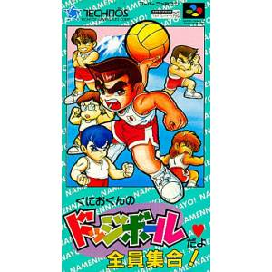 Kunio-Kun no Dodge Ball da yo - Zenin Shuugo! [SFC - Used Good Condition]