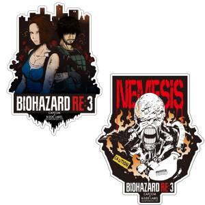 Capcom x B-SIDE LABEL Sticker - Resident Evil RE:3 / Biohazard RE:3 Nemesis / Jill & Carlos Set  [Goods]