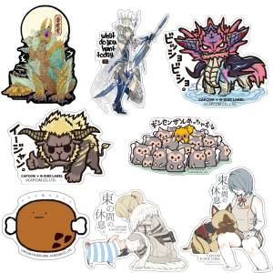 FREE SHIPPING - Capcom x B-SIDE LABEL Sticker - Monster Hunter 8 Stickers Set [Goods]