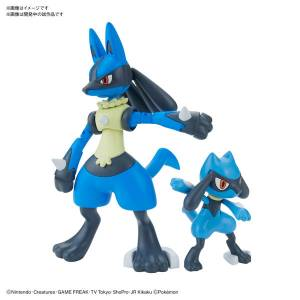 Pokemon Plamo Collection 44 Select Series Riolu & Lucario Plastic Model [Bandai]