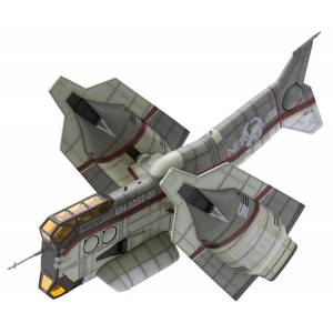 Rebuild of Evangelion VIP Transportation NERF Commander VTOL Craft Plastic Model [Kotobukiya]