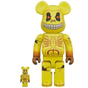 BE@RBRICK / Bearbrick SKULL FACE 100% & 400% 2PC Limited Set [Medicom Toy]