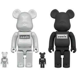 BE@RBRICK / Bearbrick OASIS (White Chrome) 100% & 400% 2PC Limited Set [Medicom Toy]