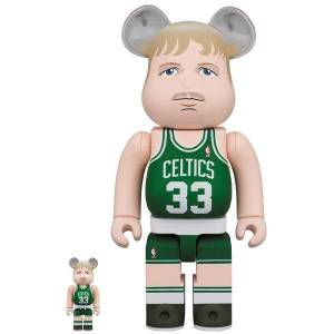 BE@RBRICK / Bearbrick Larry Bird (Boston Celtics) 100% & 400% 2PC Limited Set [Medicom Toy]