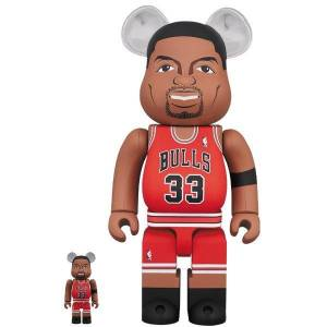 BE@RBRICK / Bearbrick Scottie Pippen (Chicago Bulls) 100% & 400% 2PC Limited Set [Medicom Toy]
