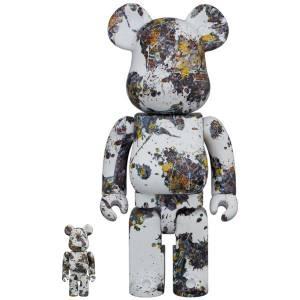 BE@RBRICK / BEARBRICK 100% + 400% Jackson Pollock Studio (SPLASH) - 2 pieces LIMITED SET [Medicom Toy]