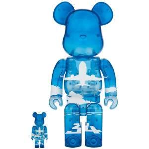 BE@RBRICK / BEARBRICK ANA Original 100% & 400% ANA ANA Blue Sky LIMITED SET [Medicom Toy]