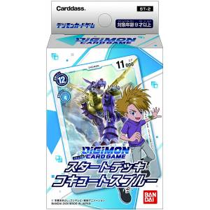 Digimon Card Game Start Deck Cocutes Blue ST-2 6 Packs Box [Trading Cards]