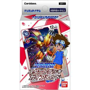 Digimon Card Game Start Deck Gaia Red ST-1 6 Packs Box [Trading Cards]