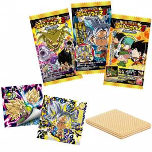 Dragon Ball Chou Senshi Sticker Wafer Z Chouzetsu Genkaitoppa 20Pack BOX (CANDY TOY) [Bandai]