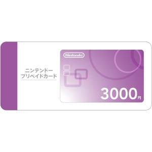Nintendo Pre-Paid Card 3,000JPY [for Japanese Wii / Wii U / 3DS]