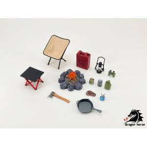 1/12 Scale Camping Gear Set A [Dragon Horse]