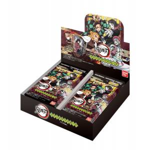 Demon Slayer Kimetsu  No Yaiba Stained Glass Card 20Pack BOX (CANDY TOY) [Bandai]