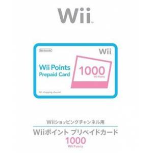 Carte pré-payée Virtual Console - 1 000 Wii Points