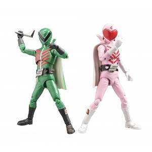 HAF (Hero Action Figure) Himitsu Sentai Goranger - Mido ranger & Momo ranger [Evolution Toy]