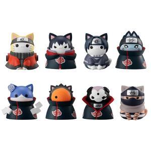 """Nyaruto! NARUTO Shippuden, Nyaruto! """"Akatsuki's"""" to Zenmen Taiketsu! 8Pack BOX CANDY TOY [Megahouse]"""