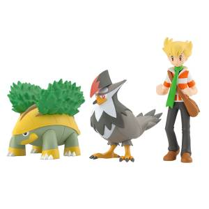 Pokemon Scale World: Sinnoh Region - Barry, Grotle & Staraptor - LIMITED EDITION - (CANDY TOY) [Bandai]