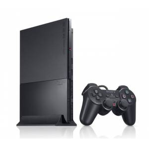 PlayStation 2 Slim - Charcoal Black (SCPH-90000CB) [occasion]