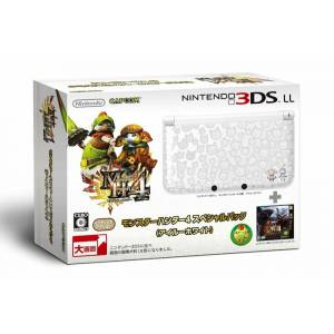 Nintendo 3DS LL (XL) - Monster Hunter 4 - Airu White [Used]