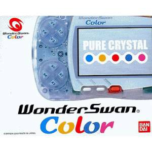 WonderSwan Color Pure Crystal Complete in box [Used Good Condition]