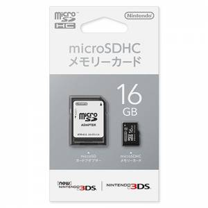 Nintendo Micro SDHC Memory Card 16GB [New 3DS]