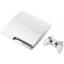 buy playstation 3 slim 160gb classic white used japanese import nin nin. Black Bedroom Furniture Sets. Home Design Ideas