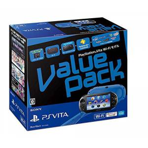 PSVita Slim Value Pack - Blue & Black [new]