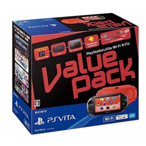 PSVita Slim Value Pack - Red & Black [new]