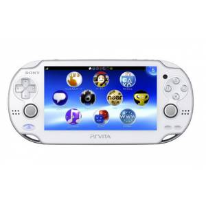 PSVita - Crystal White PlayStation Vita - 3G/Wifi (PCH-1100 AB02) [Occasion / Loose / ligne de pixels morts]