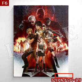 Biohazard 20th Canvas F6 (410×318mm) [e-Capcom Limited]