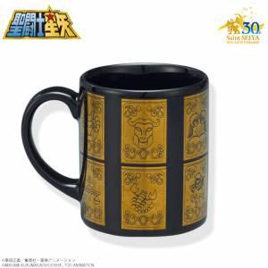 Saint Seiya 30th Anniversary Memorial Golden Cloth box (Gold Cross box) Mug [Goods]