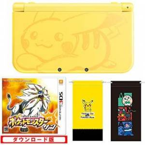 New Nintendo 3DS LL (XL) - Pokemon Pikachu Yellow Game Set Limited Edition (Microfiber Pouch Yellow / Black)  [Brand New]