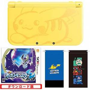 New Nintendo 3DS LL (XL) - Pokemon Pikachu Yellow Game Set Limited Edition (Microfiber Pouch Blue / Black) [Brand New]
