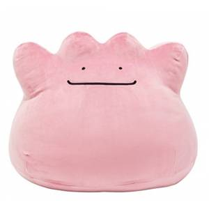 "Super-big Size ""Motchiri"" stuffed Metamon / Ditto / Metamorph - Pokemon Center Limited Edition [Plush Toys]"