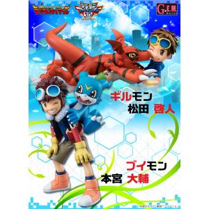 DIGIMON ADVENTURE 02 - MOTOMIYA DAISUKE & VEEMON - MATSUDA TAKATO & GUILMON Double Set Limited Edition [G.E.M.]