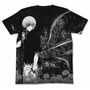 Tokyo Ghoul - Ken Kaneki All Print T-shirt / BLACK - S [Goods]