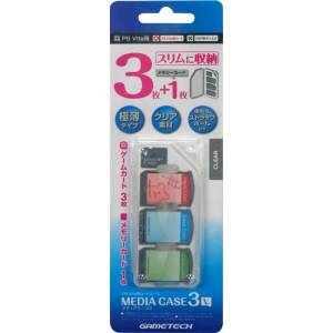 Card Case (Media Case 3V) for PlayStation Vita - Clear ver. [Gametech]