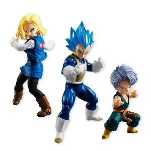 Dragon Ball Super - Android 18 C-18 / SSGSS Vegeta & childhood Trunks Premium Bandai Limited Set [STYLING]
