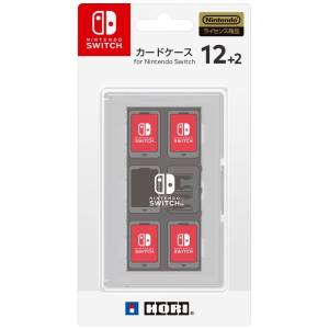 FREE SHIPPING - Card Case 12 + 2 for Nintendo Switch - White [Hori]