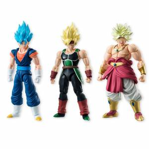 Dragon Ball Z - SSGSS Vegito / Super Saiyan Bardock / Broly pack BOX [Bandai Shodo Vol. 5]