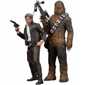 Star Wars: The Force Awakens - Han Solo & Chewbacca set [ARTFX+]