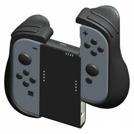 CYBER Grip & power supply attachment set for Nintendo SWITCH Black ver. (Joy-Con dockable) [Switch]