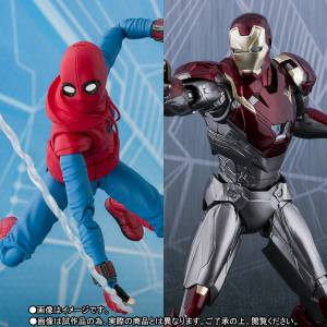 Spider-Man: Homecoming - Spider-Man Home Made Suit & Iron Man Mark XLVII Limited Set [S.H. Figuarts]