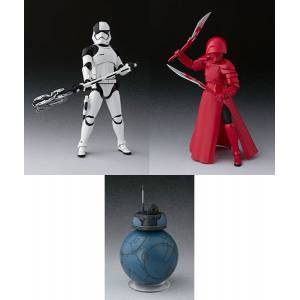 Star Wars: The Last Jedi - First Order Executioner / Elite Praetorian Guard (Double Blade) / 2BB-2 set [SH Figuarts]